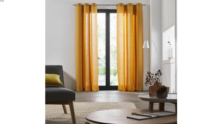 Eyelet Curtain CARLINA by Madura Ocher / 109€ - 219€ TTC