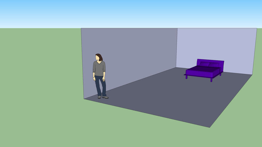 Model of my bedroom in Sketchup