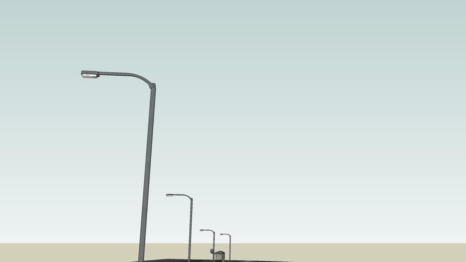 Oświetlenie uliczne Olsztyn XIII / Przystanek autobusowy