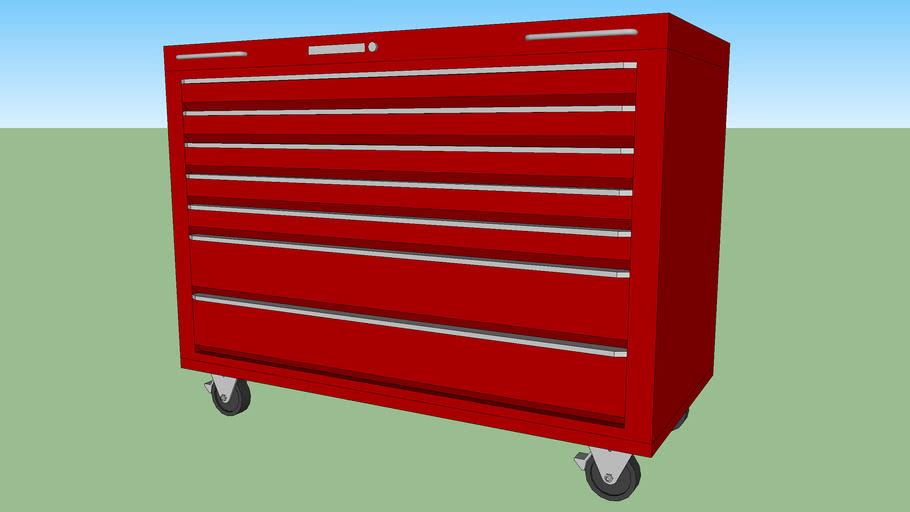 UC-123 - Under-Bench Tool Storage Cart w/ 7 Drawers