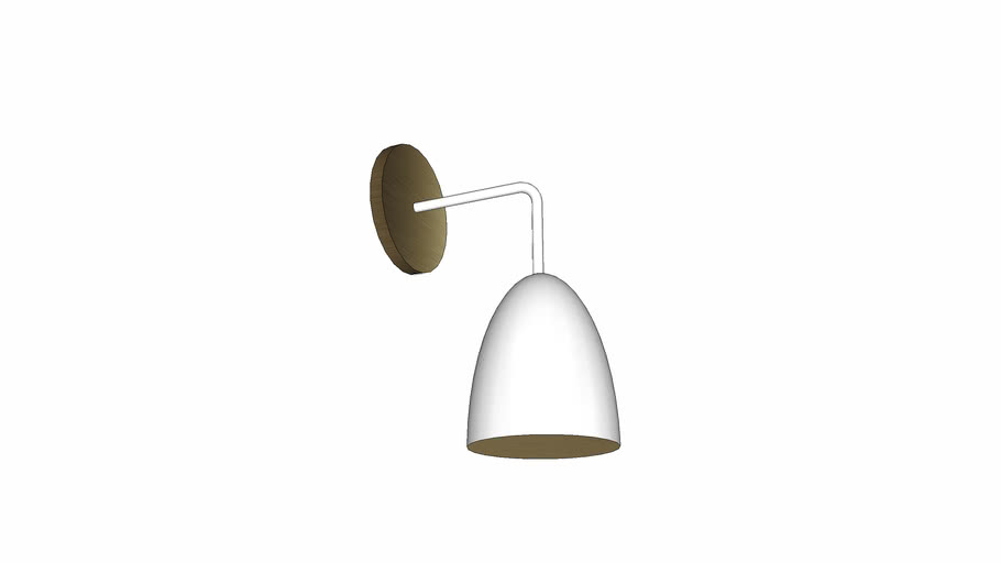 OneFortyThree Sconce White + Brass