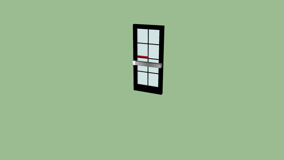 EMERGENCY EXIT ONLY DOOR BLACK TZ