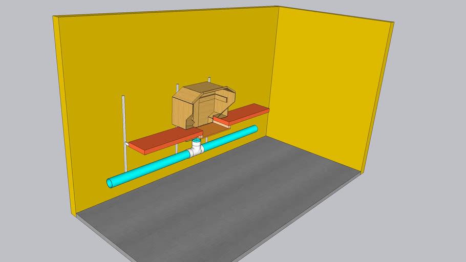 Bench Layout showing miterbox shroud.