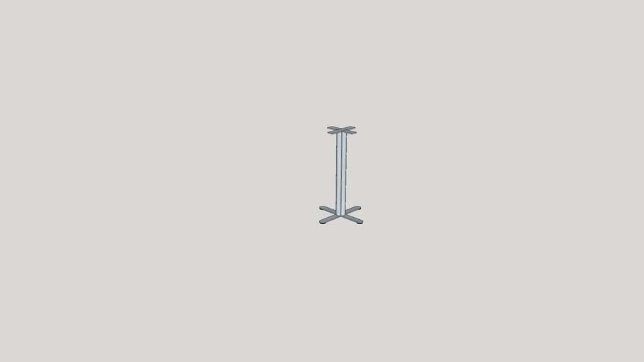 Metal tube Base with Glidders