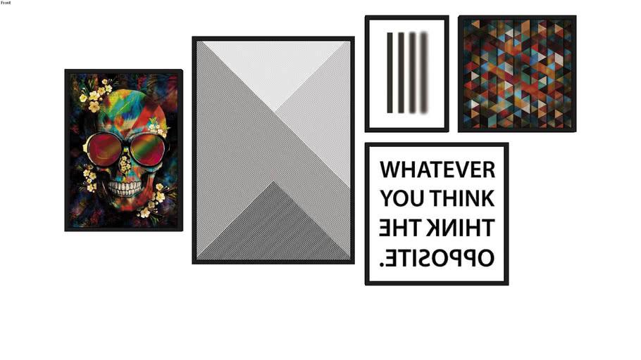 Composição de 5 quadros - 12