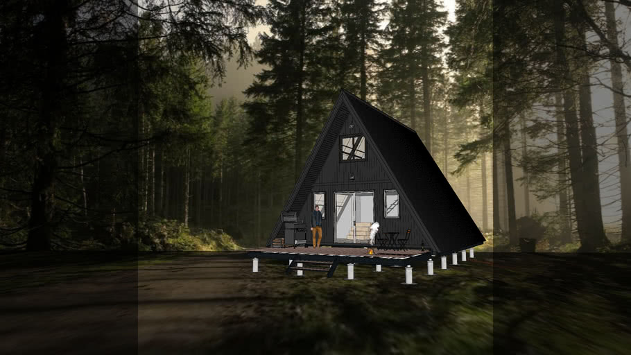 A FRAME CABIN Design by Pooh