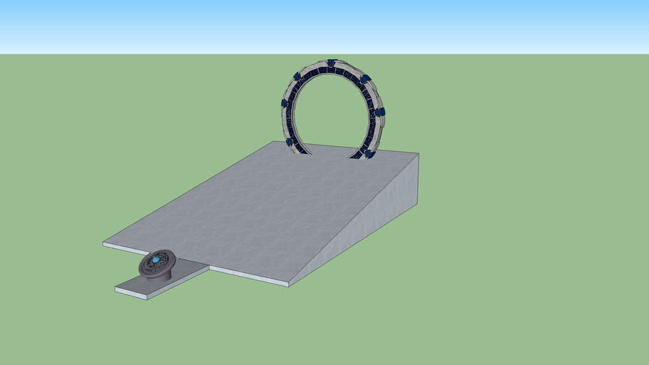 Pegasus Galaxy Stargate IDLE with ramp and DHD