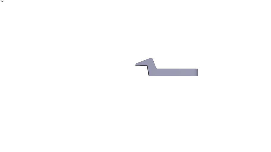 Swan neck clamp - 105 x 30 x 12 mm