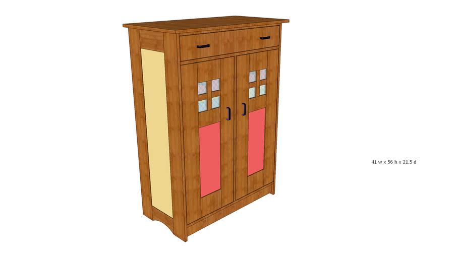 Gentleman's Dresser (0.5 inch panels)