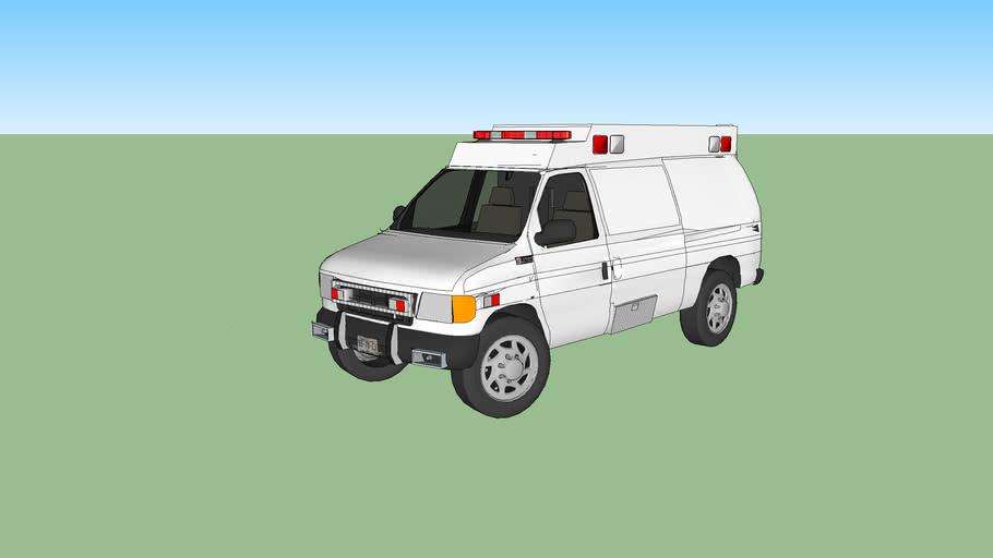 ambulance type ll ford f350 econoline model 1998
