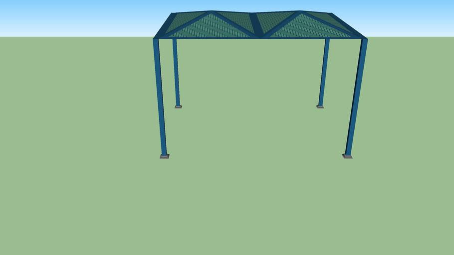 abri de jardin en toile - canvas garden shed