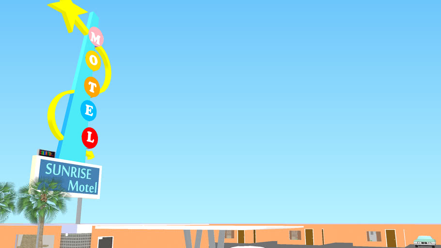 Sunrise Motel and Retro Pure Gas Station- Fully Furnished