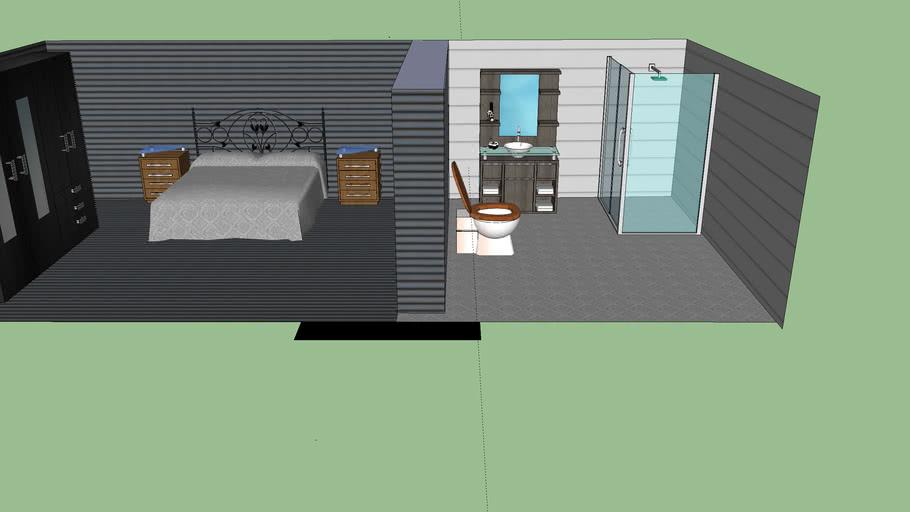 Banheiro e quarto