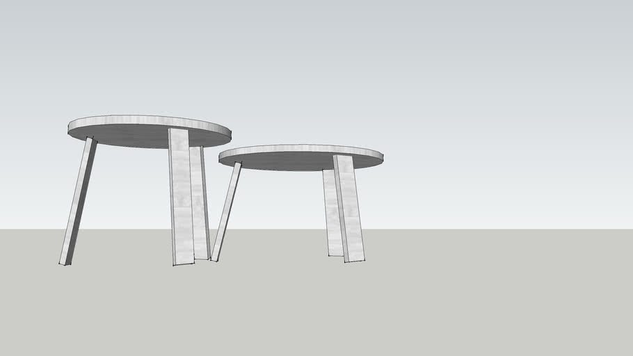 Alle Coffee Table Small and Medium by Staffan Holm