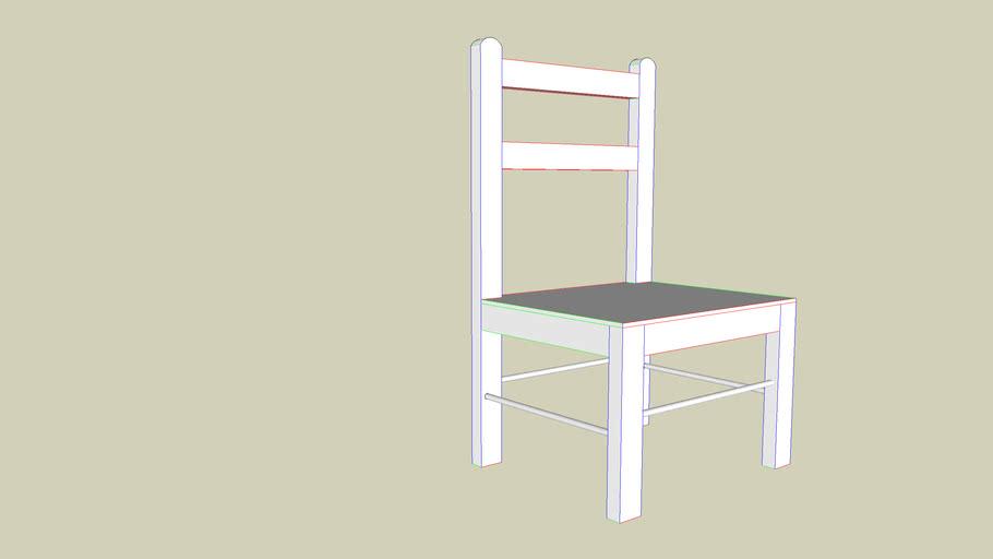 Petite chaise sans accoudoire