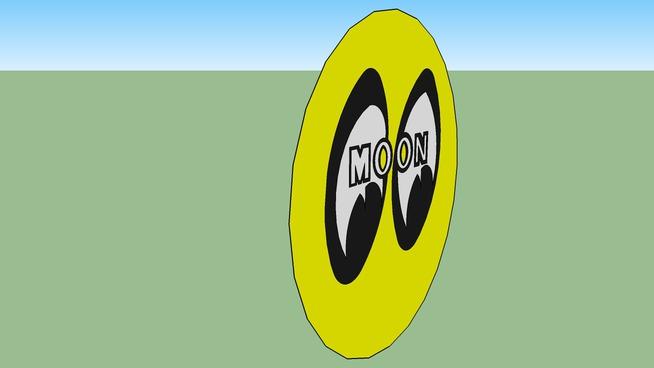 "moon eyes logo sign. 48"""
