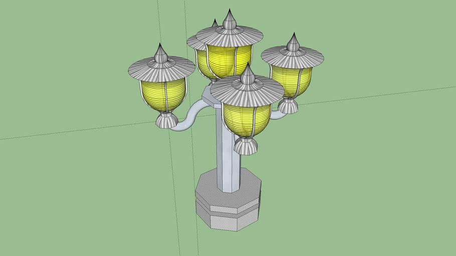 Lamps adorn the corridors