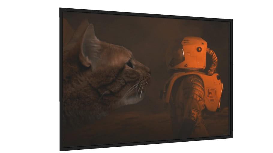 Quadro Planet of Cats - Galeria9, por Herisson.Artes