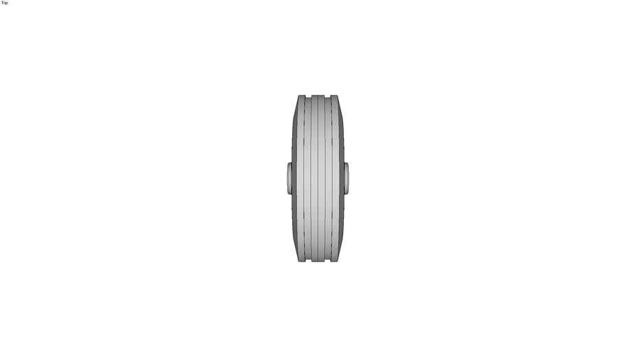 Standard Solid Rubber Tyres on pressed steel rim