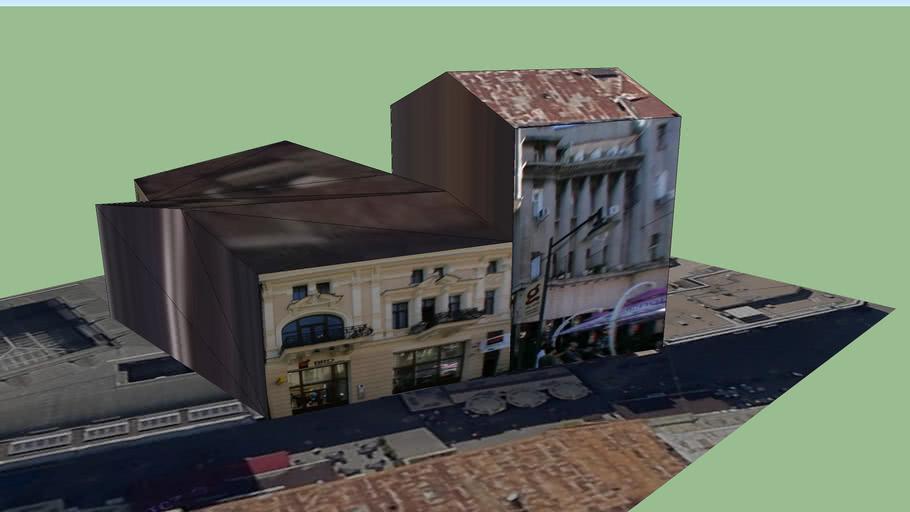 Building on Lipscani street, Bucharest