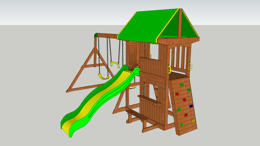 Backyard Discovery - Somerset Swing Set | 3D Warehouse