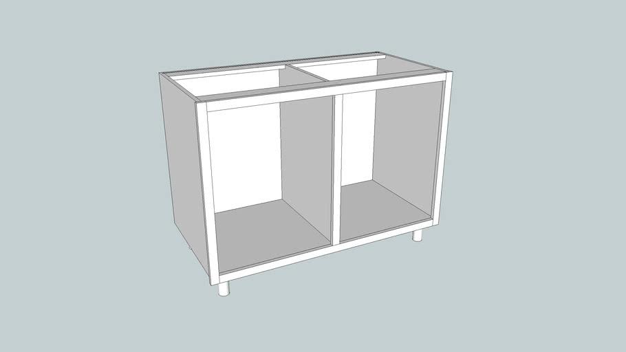 CabinetCRUNCHER Example 17 - Cabinet on Adjustable Legs, Dado Back
