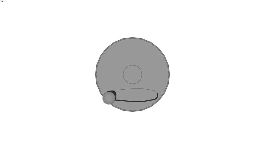 Volant disque technopolym�re � poign�e �clipsable - Moyeu rainur�