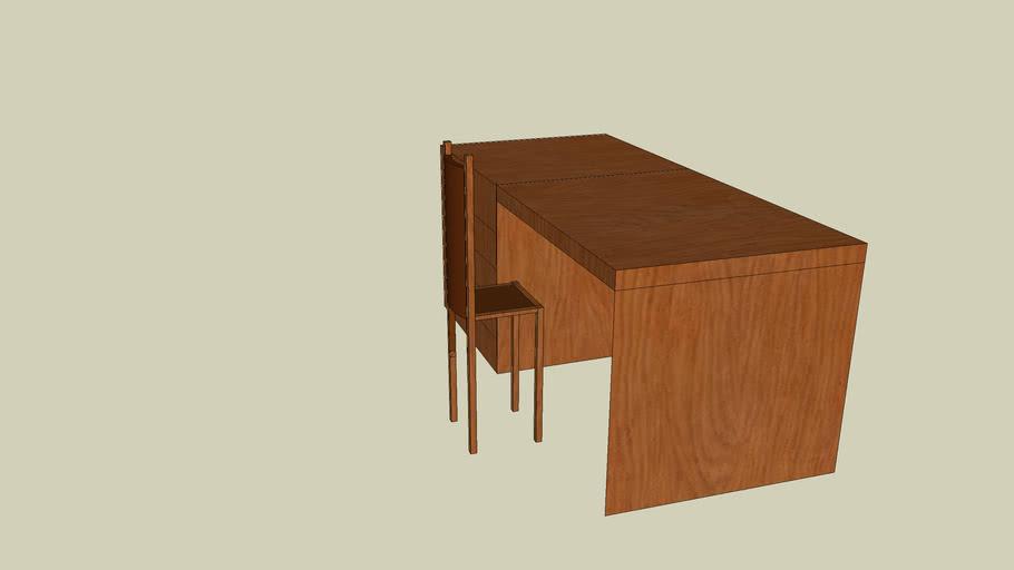 Desk&Chair (WOODEN)