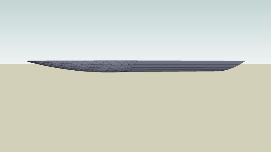 Rounded airboat hull