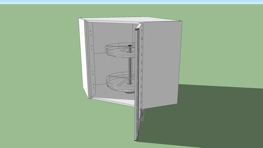 Meuble De Cuisine Haut 1 Porte D Angle Silver Lapeyre 3d Warehouse