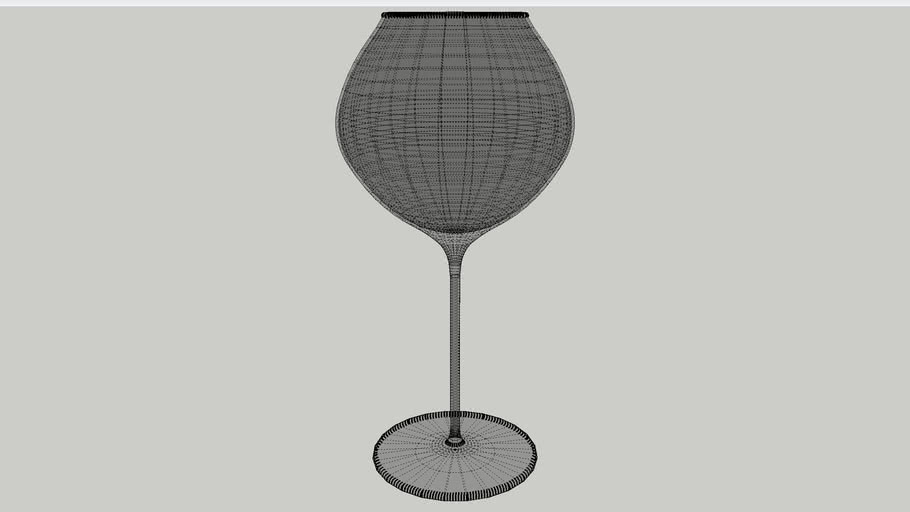 Low poly wine glass with Vray material