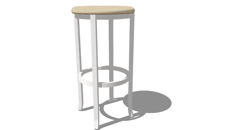 white bar stool wood
