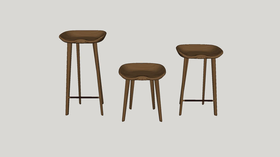 different size stool vray2 or higher render ready