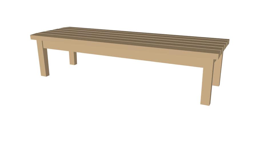 Flat wood bench