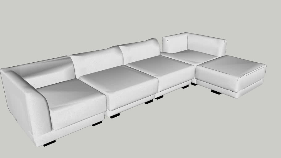 L-shape sofa(3500W x 1000D/1500Dmm)