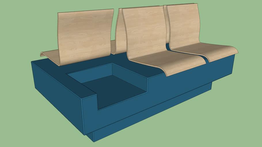 Sitzbank Seat bench