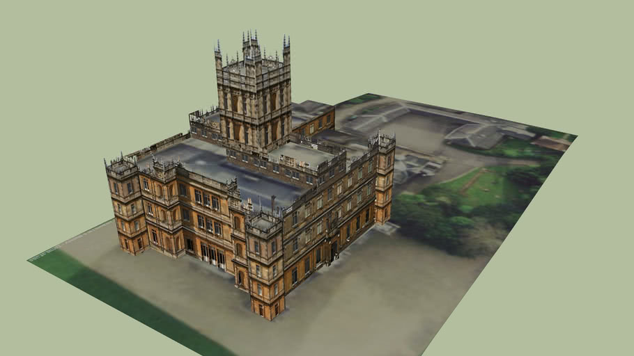 Highclere Castle Aka Downton Abbey 3d Warehouse