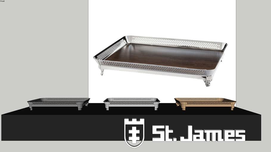 Bandeja Galeria com Fundo de Madeira - Código: 2600 / Saint James