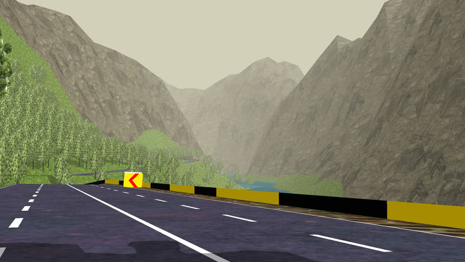 Highway through mountains