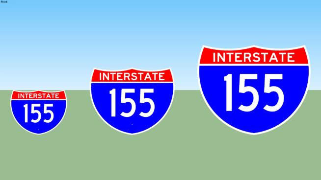 Interstate 155 Sign