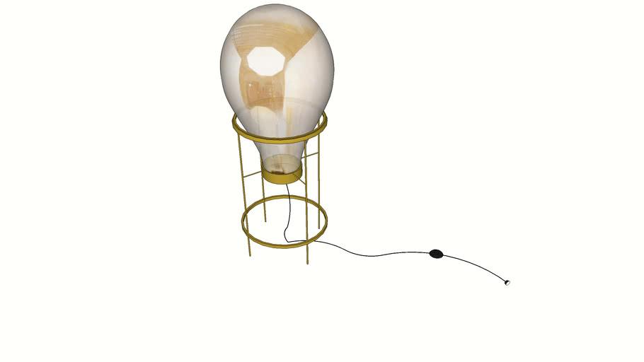51323 Table Lamp Pear Frame 78cm