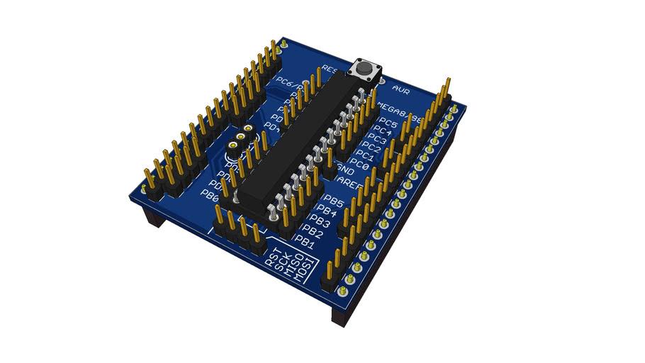 Pinboard II AVR Mega168 module