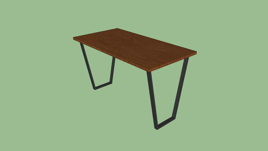 Mesa com pé chanfrado