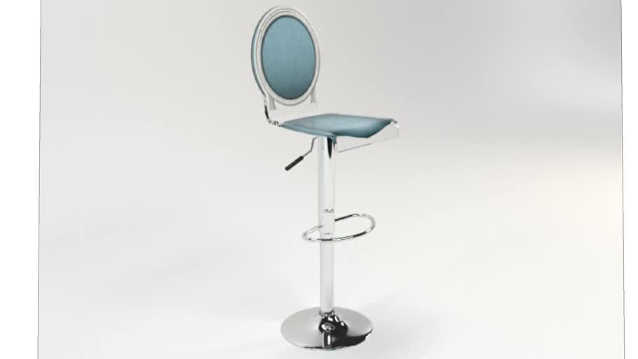 TABOURET SIXTEEN PIED VERIN BLEU PASTEL CONTOUR BLANC Acrila Furniture