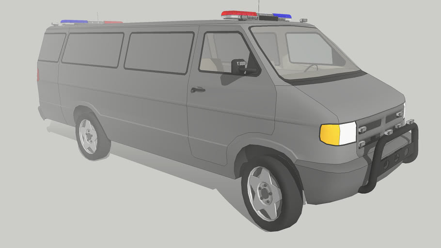 un-marked police unit -dodge van-