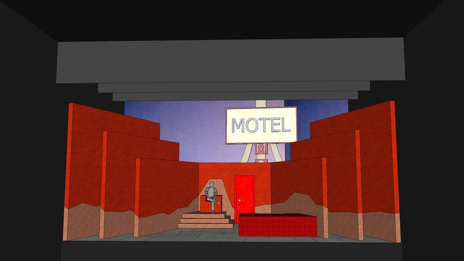 escenografía para locos de amor . Sam Shepard. Fool for love scenography - set design
