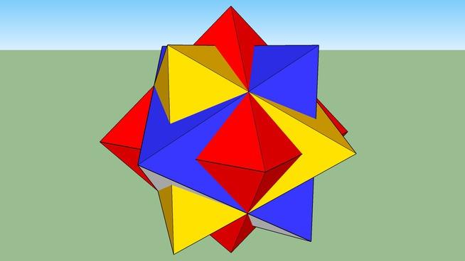 3 octahedron compound