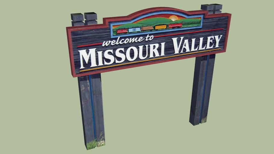 Welcome Sign Missouri Valley, Iowa