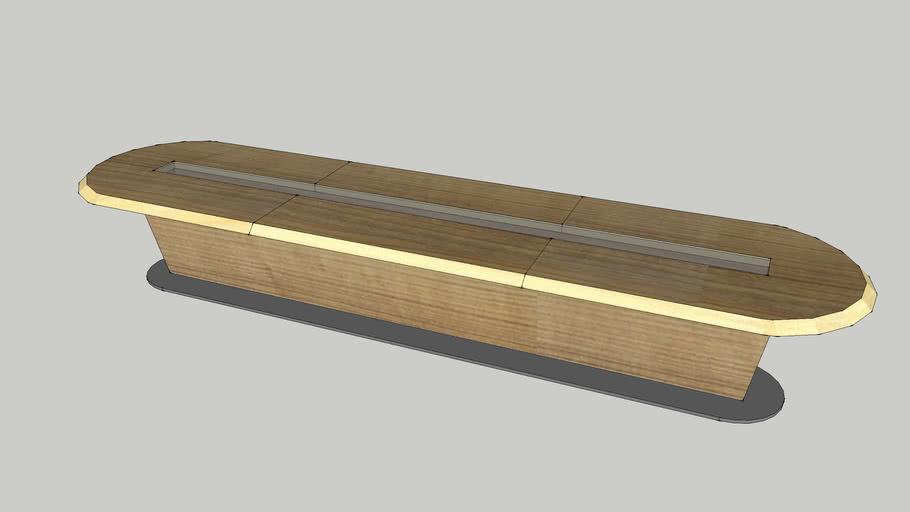 Boardroom table 4800 x 1200