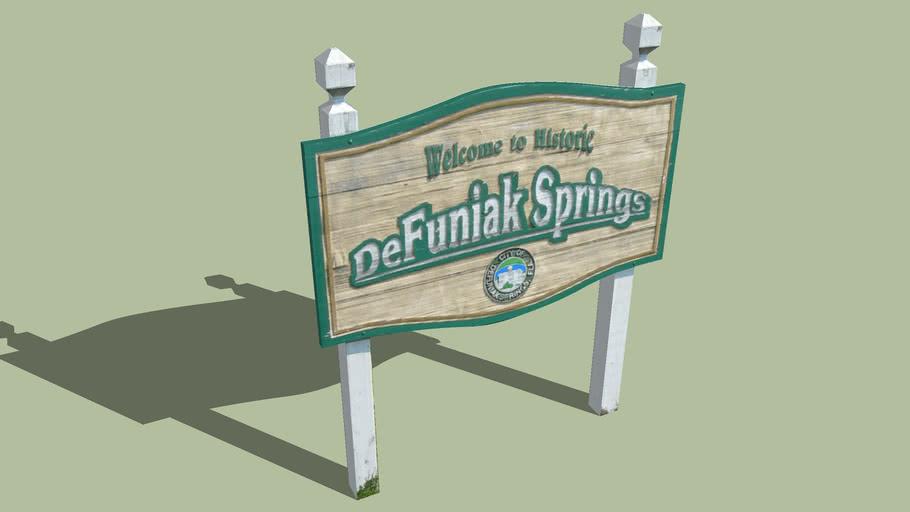 Welcome Sign DeFuniak Springs, Florida